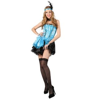 Ladies M Sexy Saloon Girl   Turquoise Sexy Costume for Moulin Rouge