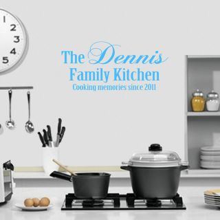 Family Kitchen Wall Sticker Decal Transfer  Colour & Size Options