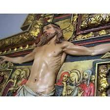 Damiano St. Damian Wall Cross Crucifix Jesus INRI Relief Statue Gift