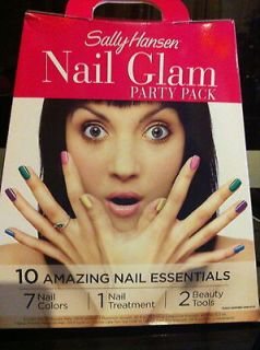 SALLY HANSEN NAIL GLAM PARTY PACK 10 AMAZING NAIL ESSENTIALS   NIB