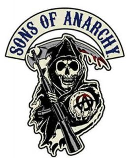 SONS OF ANARCHY SOA SAMCRO REAPER LICENSED BIKER PATCH