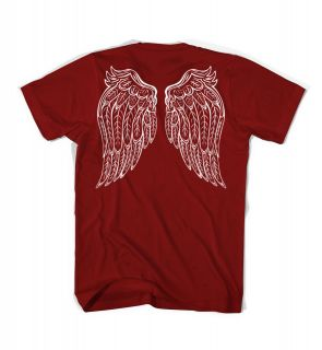 Angel Wings goth metal tattoo vintage feathers new t shirt