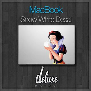 Decal sticker cover protector skin for Apple Macbook laptop Snow White