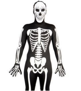 ALL IN ONE MENS LADIES LYCRA JUMP BODY SUIT Costume HALLOWEEN S XL