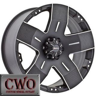 17 Black Ballistic Hyjak Wheels Rims 5x114.3 5 Lug Jeep Wrangler