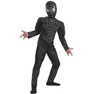 The Amazing Spider Man Black Muscle Child Costume Size 10 12 Disguise