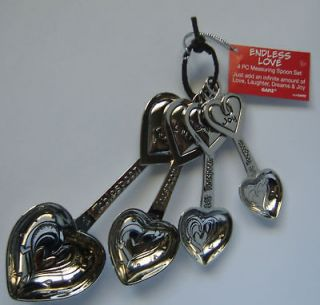Endless love Heavy Metal Measuring Spoon Set Ganz NEW