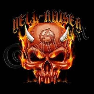 ANARCHY DEVIL SKULL SHIRT AMERICAN MUSCLE CAR HEAVY METAL BIKER USA