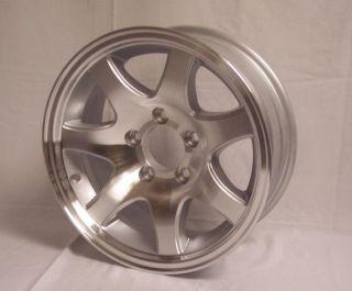 15 X 6 Aluminum 7 Spoke Trailer Rim wheel 5 on 4.5