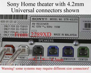 sony speaker connectors in TV, Video & Home Audio