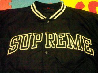 Supreme Varsity Jacket Black Size L