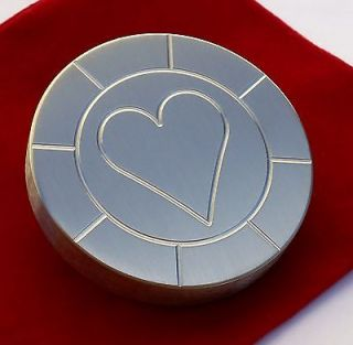 Stainless Steel, Round ,Poker Card Protector, Card Guard, Paper Weight