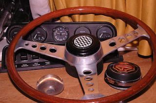 LESTON MGA ORIGINAL BRITISH STEERING WHEEL with NOS Boss kit