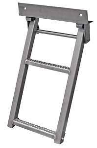 Truck, Trailer, Flat Bed Step, Ladder, 2 Rungs. Stainless Steel