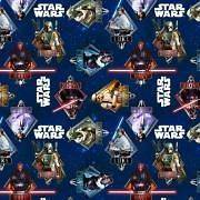 Star Wars Navy Cotton Print By the Yd 44 Wide