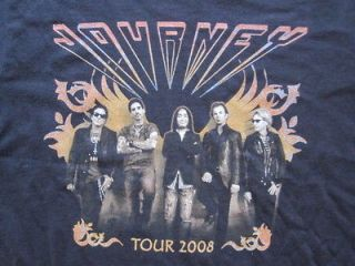 JOURNEY 2008 US TOUR BLACK SMALL T SHIRT USED IN EXCELLENT CONDITION