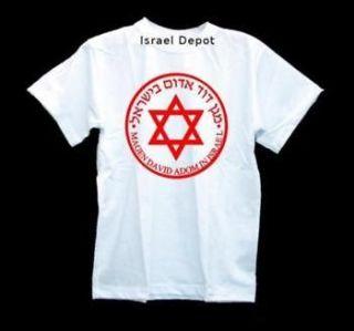 Israel Red David Star Ambulance Medical T shirt Israeli