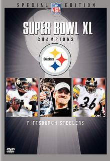 NFL Super Bowl XL Champions   Pittsburgh Steelers DVD, 2006