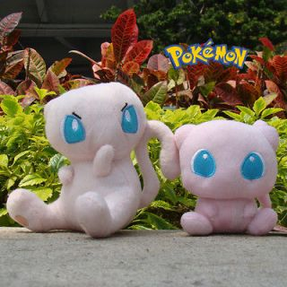 Pokemon Toy 2PCS 4.5 and 6.5 Mew Soft Stuffed Animal Cute Doll Gift