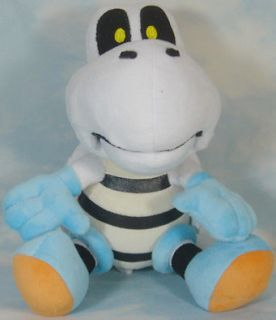 super mario bros waluigi black bob omb dry bones 5 11 soft plush doll