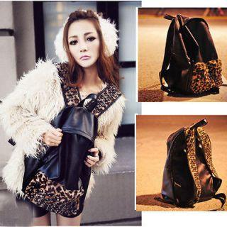 undercoat leopard Skin Punk Style Backpack Bag Women lady Travel
