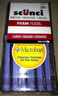 Scunci Microban Perm Rods Size Large 24 pack