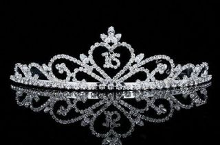 Sweet 16 Pageant Heart Birthday Party Rhinestones Crystal Crown Tiara