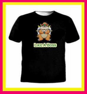 Like a boss Bowser mario super gaming parody slang swag urban funny t