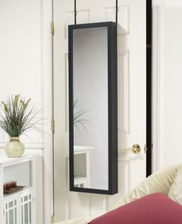 Jewelry Armoire with Dressing Mirror Door Hang or Wall Mount Jewelry