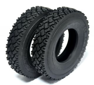 RC GO Tamiya Tractor Truck 1/14 Rubber tires(2pcs) R620 R470 MAN