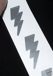 100 TANNING STICKERS TATTOOS LIGHTNING THUNDER BOLT