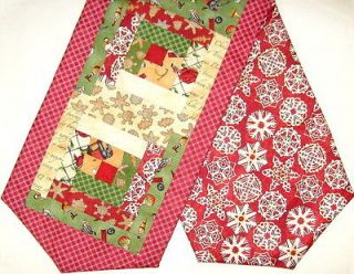Cutter Patchwork PRE CUT Table Runner Kit CHRISTMAS TRADITIONS Red