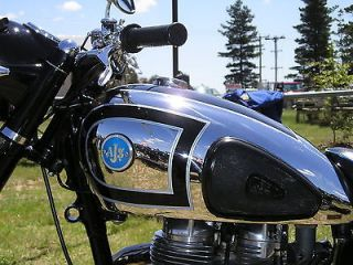 AJS MOTORCYCLE PETROL, FUEL TANK DECALS, STICKERS, TRANSFERS. SILVER
