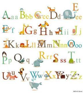 CC Animals Alphabet Removable Wall Sticker Decals 4 boys girls