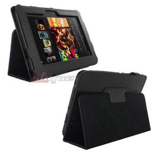 Folio Button Leather Case Cover For  Kindle Fire7 Tablet 7in