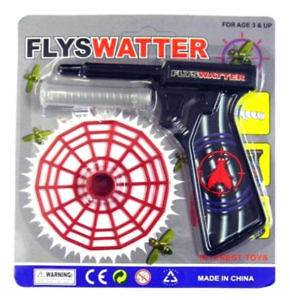 Fly Swatter Gun Flyswatter Shoots Disc Kills Flies Spring Loaded Net