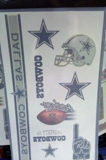 Nfl temporary tattoos face paint decals 10 pack all nfl teams for Dallas cowboys star temporary tattoos