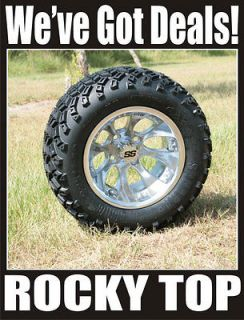 NEW 12x7 CLAW Golf Cart Wheels and All Terrain Tires