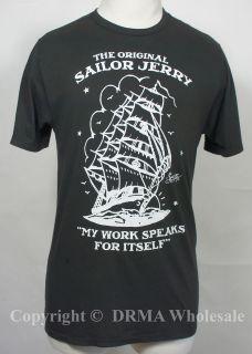 SAILOR JERRY Tattoo Homeward Bound Logo Slim Fit T Shirt S M L XL XXL