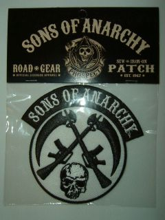 Sons of Anarchy SOA Tv Show Crossed Guns and Skull Shirt Patch
