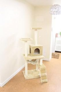 New Beige 57 Cat Tree Condo Furniture Scratch Post Pet House 5777