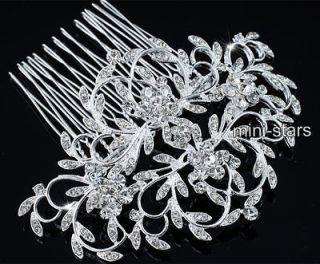Wedding Art Deco Vintage Style High Quality Flower Hair Comb AT1661
