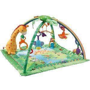 Baby Rainforest Activity Gym Play Mat w/ Music Lights Nature Sounds