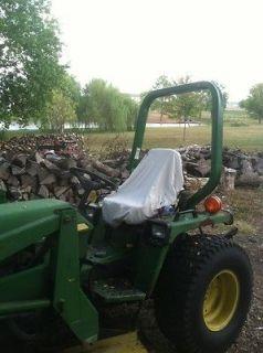 HEAVY DUTY WHITE COTTON CANVAS LAWN TRACTOR FARM TRACTOR ATV SEAT