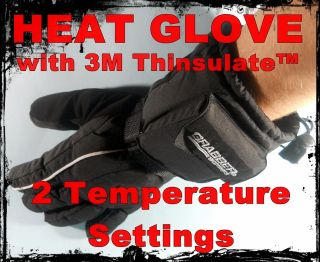 Battery Powered Heat Gloves w 3M Thinsulate™ & DRYPEL Hand Warmer