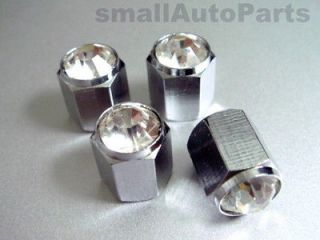 *Crystal*Clear*Chrome*Diamond Tire/Wheel air stem valve CAPS for BMW