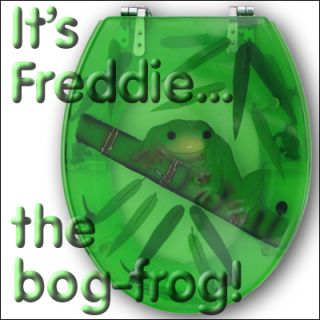 FROG TOILET SEAT   transparent polyresin   novelty fun!