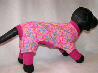 Dog PJS 4 legged Flannel pet Pajamas TC 6L Tiny Puppy apparel Teacup