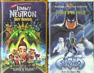 Jimmy Neutron Boy Genius & Batman & Mr. Freeze; 2 VHS
