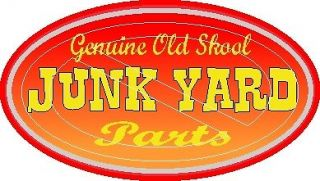 Genuine Old School Junk Yard Parts   Vintage Racing Decal Sticker
